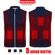 Men Autumn winter Smart heating Cotton Vest USB Infrared Electric Heating Vest Women Outdoor Thermal Winter Warm Jacket heated cheap NoEnName_Null CN(Origin) Polyester zipper N191 N192 NONE 100 Polyester striped Regular Slim O-Neck Outerwear Coats Pockets