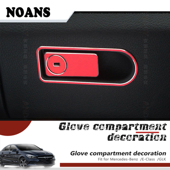 NOANS Auto Car Styling Storage Box Button Stickers For Mercedes Benz Mercedes W204 W218 W211 X204 Benz C E GLK GLS Accessories image