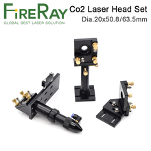 цена на FireRay CO2 Laser Head Set Mirror and Focus Lens Integrative Mount Houlder for Laser Engraving Cutting Machine
