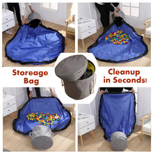 Сумка для хранения чистки игрушек детский игровой коврик складной