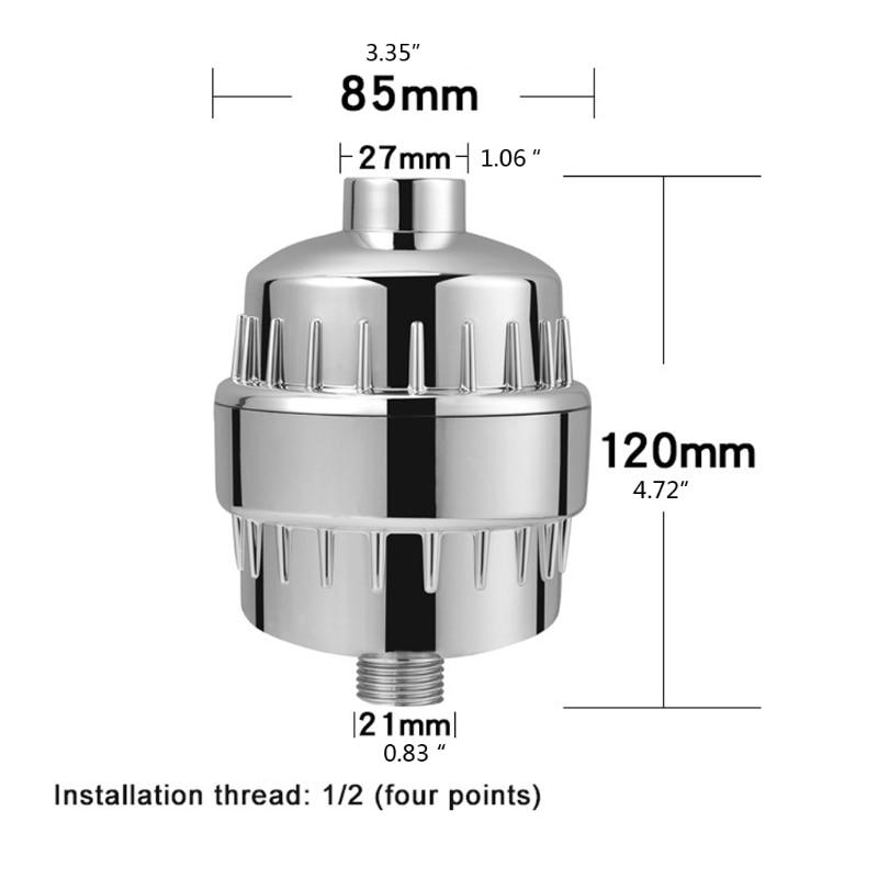 15 Stage Universal 1/2' High Output Shower Filter Bathroom Water Purifier Filter K3KA