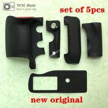 Nuevo para Nikon D4S cuerpo de goma frontal/agarre/inferior/lateral/CF Tarjeta de goma cubierta Cámara unidad de repuesto