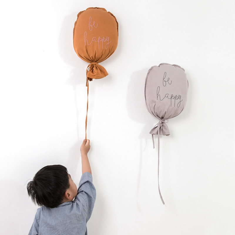 Cute Balloon Wall Hanging Ornaments Cotton Kids Room Nordic Baby Bedroom Decoration Baby Photography Props Baby Pillow