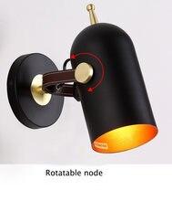 Модная настенная лампа промышленный настенный светильник Регулируемый