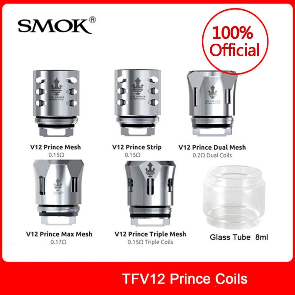 Original SMOK TFV12 Prince Coils Mesh/Strip/Dual Mesh/Triple Mesh/Max Mesh For Smok Tfv12 Prince Tank Electronic Cigarette Cores