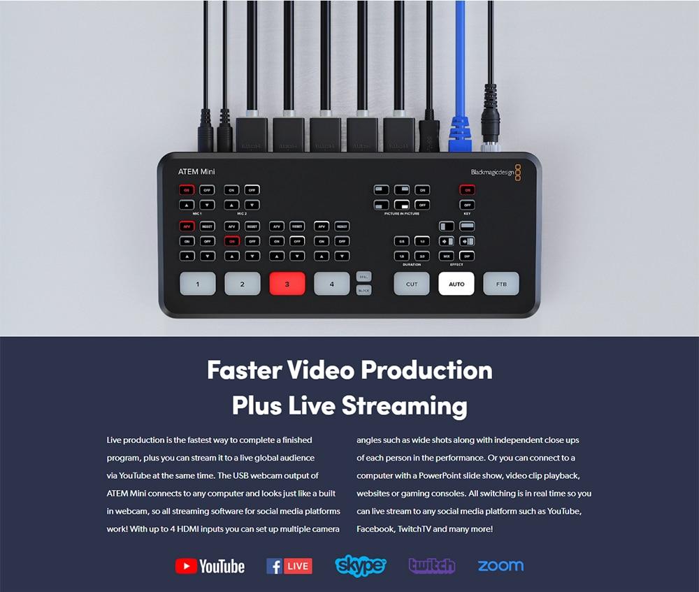 Original Blackmagic Design Atem Mini Pro Hdmi Live Stream Switcher Ebay