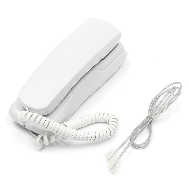 Мини настенный телефон с проводом домашний офис отель Настольный стационарный телефон белый/черный регулятор громкости DC 48V - Цвет: white