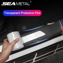 Film de protection de seuil Transparent pour voiture, autocollants de bord de porte, anti-rayures, résistant aux taches, bande Non marquante pour carrosserie automobile