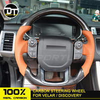 Real Carbon Fiber accessory auto Steering Wheel Replacement Customized for Land Rover for Range Rover Sport Vela