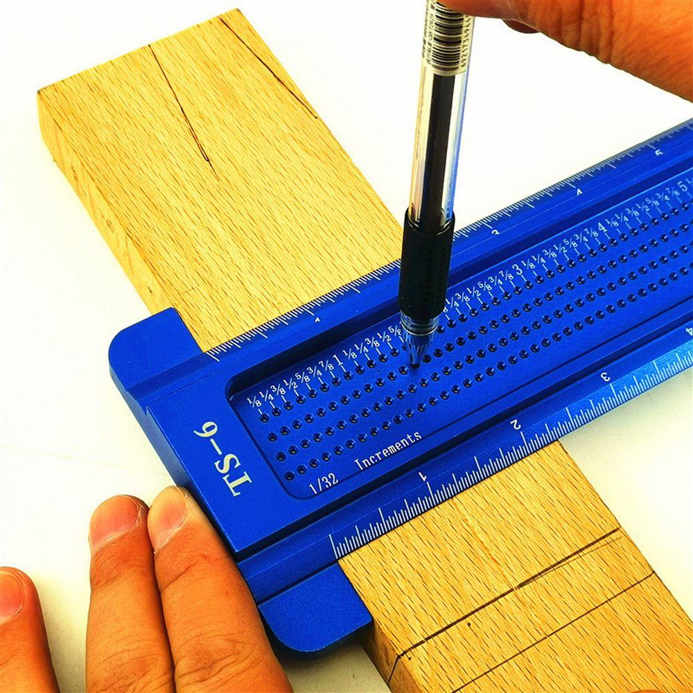 TS-6 carpintaria régua em forma de t