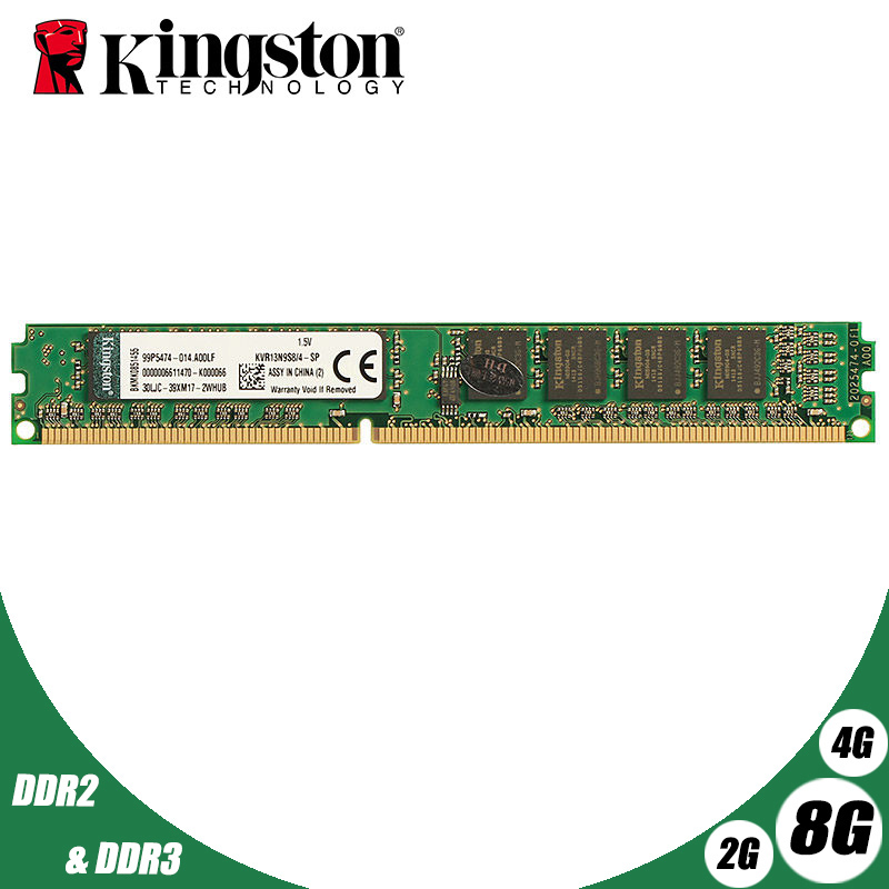 Used Kingston Desktop PC Memory RAM Memoria Module DDR2 800 667 MHz PC2 6400 8GB 4GB 2GB 1GB <font><b>DDR3</b></font> 1600 1333 <font><b>PC3</b></font>-<font><b>10600</b></font> 12800 image