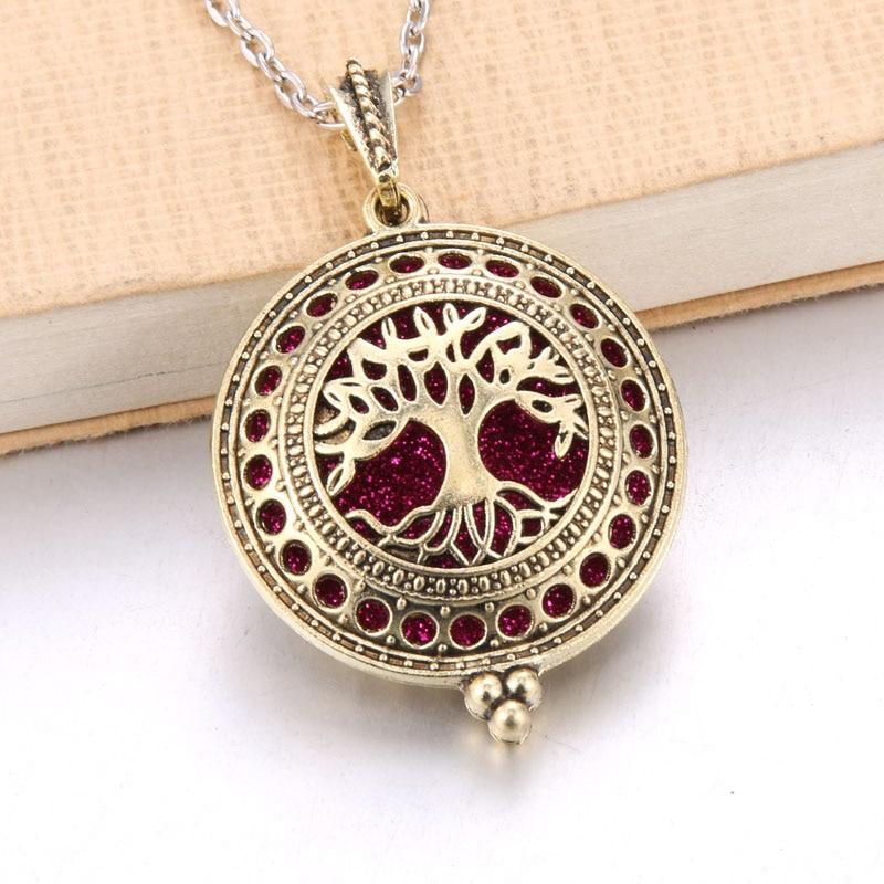 1 шт. аромадиффузор ожерелье Открытый Античный винтажный медальон кулон парфюм эфирное масло ароматерапия медальон ожерелье с подушечками - Окраска металла: N2212