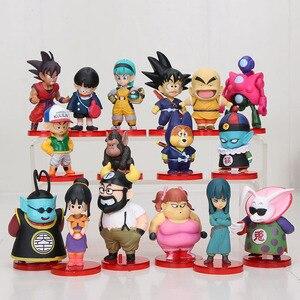 Image 4 - 8pcs/set 3 10cm Dragon Ball Z WCF Son Goku chichi DWC Gohan Piccolo Vegeta Nappa Raditz Freeza PVC Action Figure Model Toy