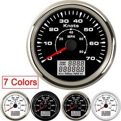 GPS prędkościomierz 85mm cyfrowy LCD 70 węzłów 40 MPH prędkościomierz fit łódź samochód z 7 kolorów podświetlenie Trip COG