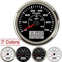 Gps medidor de velocidade 85mm digital lcd 70 nós 40 mph velocímetro medidor apto barco carro com 7 cores retroiluminação viagem cog
