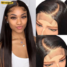 4x4 Closure Wig Straight Human Hair Wigs For Black Women Pre-Plucked Brazilian 4x4 Lace Closure Wig Remy Vrvogue