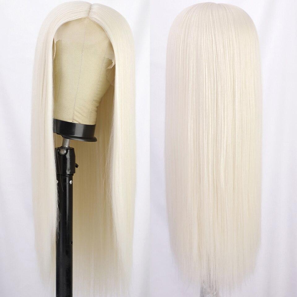 perucas sintéticas louras do laço para preto