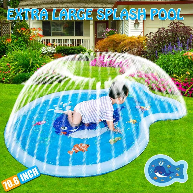 180CM Baby Toys Water Play Mat Children's Summer Beach Inflatable Spray Water Cushion Outdoor Lawn Baby Play Mat Games Playmat 1