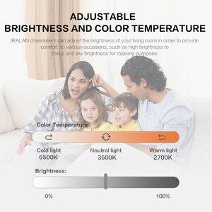 Image 4 - IRALAN светодиодная люстра, современные звезды для гостиной, спальни, пульт дистанционного управления/приложение для поддержки Домашнего Дизайна, модель люстры ICFW1913