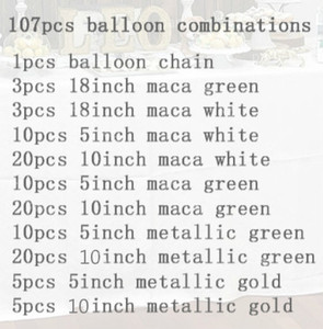 Image 3 - 107pcs Party Balloons Garland Macaro Mint White Metal Gold Green Balloon Arch Kit for Birthday New Year Party Wedding Decoration