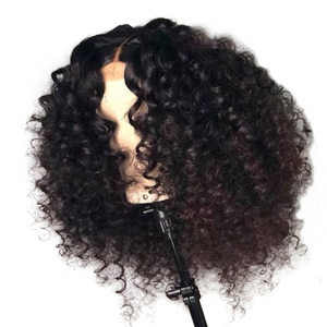 Image 1 - LUFFYHAIR Pre Plucked Brazilian Remy Hair Curly Lace Front Wig 13x6 Deep Parting Short Bob Lace Front Human Hair Wigs for Women