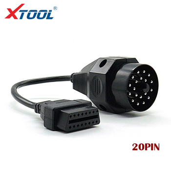 XTOOL Hot sales OBD for BMW 20pin OBD II Adapter for BMW 20 pin to OBD2 16 PIN Female Connector for e36 e39 X5 Z3 image