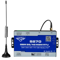 Wireless Telemetry Kit Modbus Gateway GSM 3G 4G LTE Cellular RTU with 2 DIN 2AIN 2DO for water pump controlling S270
