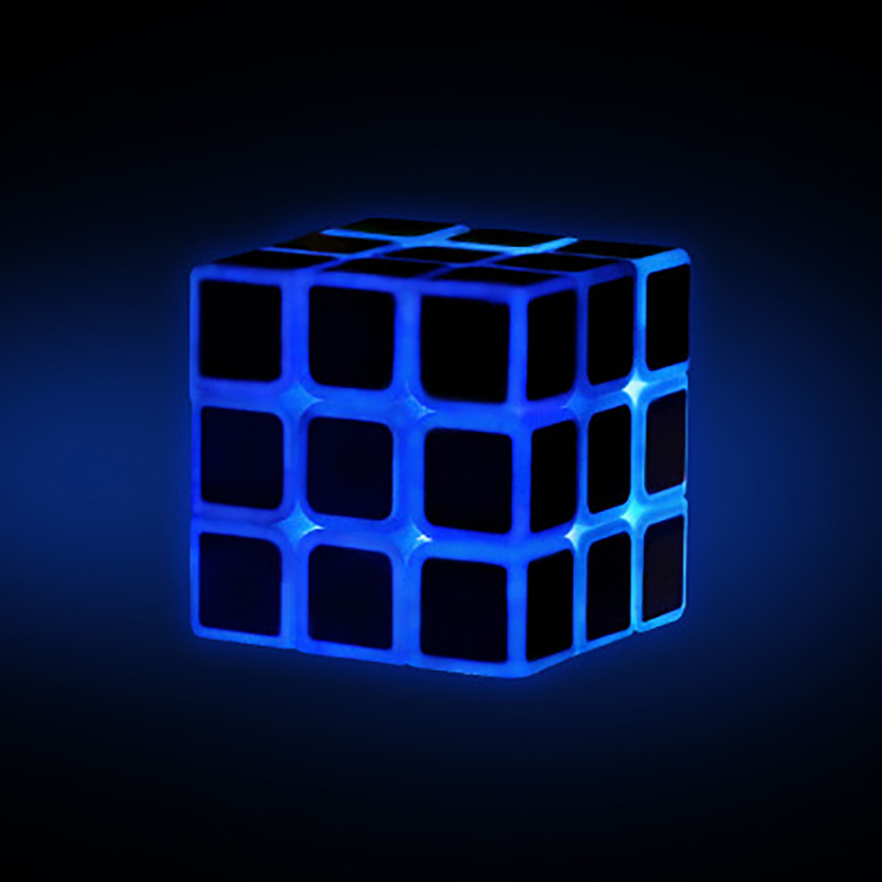 Baby 3x3x3 Magic Speed Cube Stickerless Professional Puzzle Cube Educational Toy For Kid Fluorescent Luminous Decompression Cube