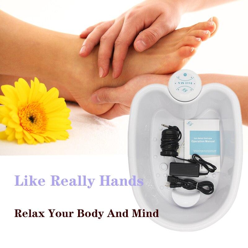 Foot Massager Detox Machine Foot Spa Ion Cleanse Foot Spa Bath Massager Ionic Aqua Cell Spa Machine Detox Foot Bath Arrays Aqua