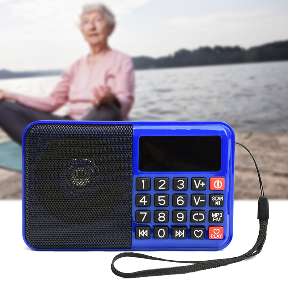 Home Music Wireless Digital Boombox MP3 Player TF Card Elder Portable FM Radio With Speaker Multifunctional Button
