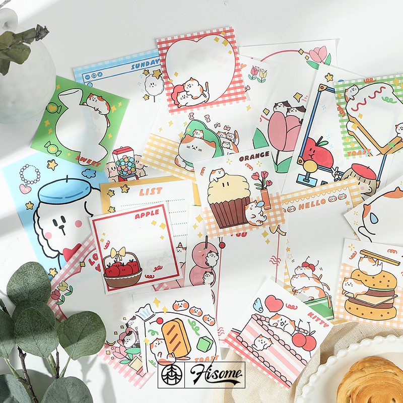 30sheet/lot Memo Pads Sticky Notes Happy Trainee Paper Diary Scrapbooking Stickers Office School Stationery Notepad