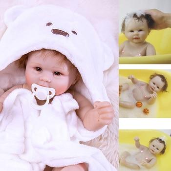 Bath toy doll bebe Reborn baby boy dolls Full body Silicone vinyl body Boneca Brinquedos toy for children Birthday gifts