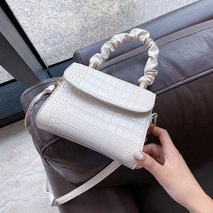 Простые мини-сумки через плечо из искусственной кожи с каменным узором для женщин 2020 летние однотонные сумки через плечо и кошельки Сумка-т...