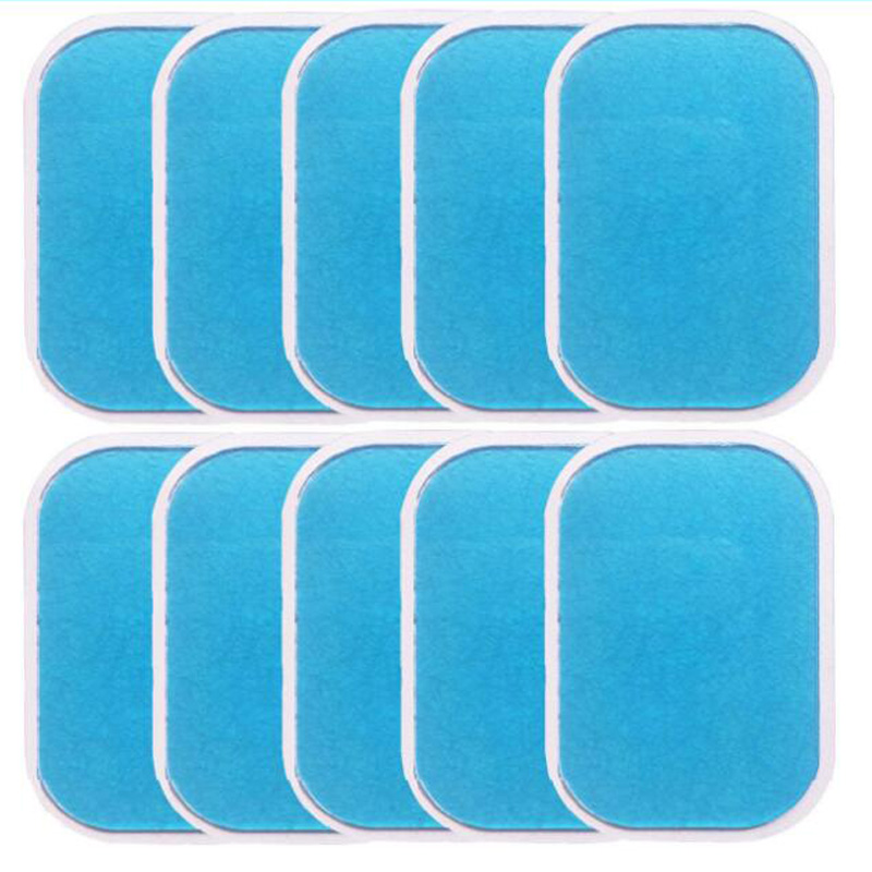 10Pcs Gel Pads For EMS Trainer Abdominal Gel Stickers Fitness Hydrogel For Abdomen Muscle Stimulator Slimming Massage Machine
