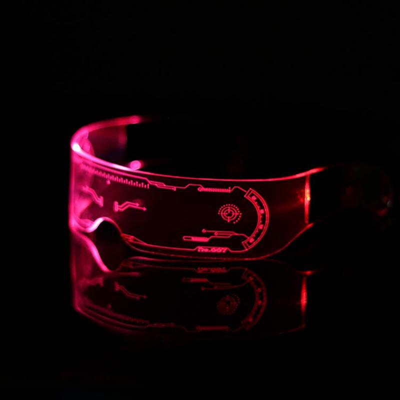 Expressive Colorful El Luminous Glasses Led Light Up Visor Eyeglasses For Bar Ktv Christmas Birthday Party New Year Decorations Dropship Suitable For Men And Women Of All Ages In All Seasons