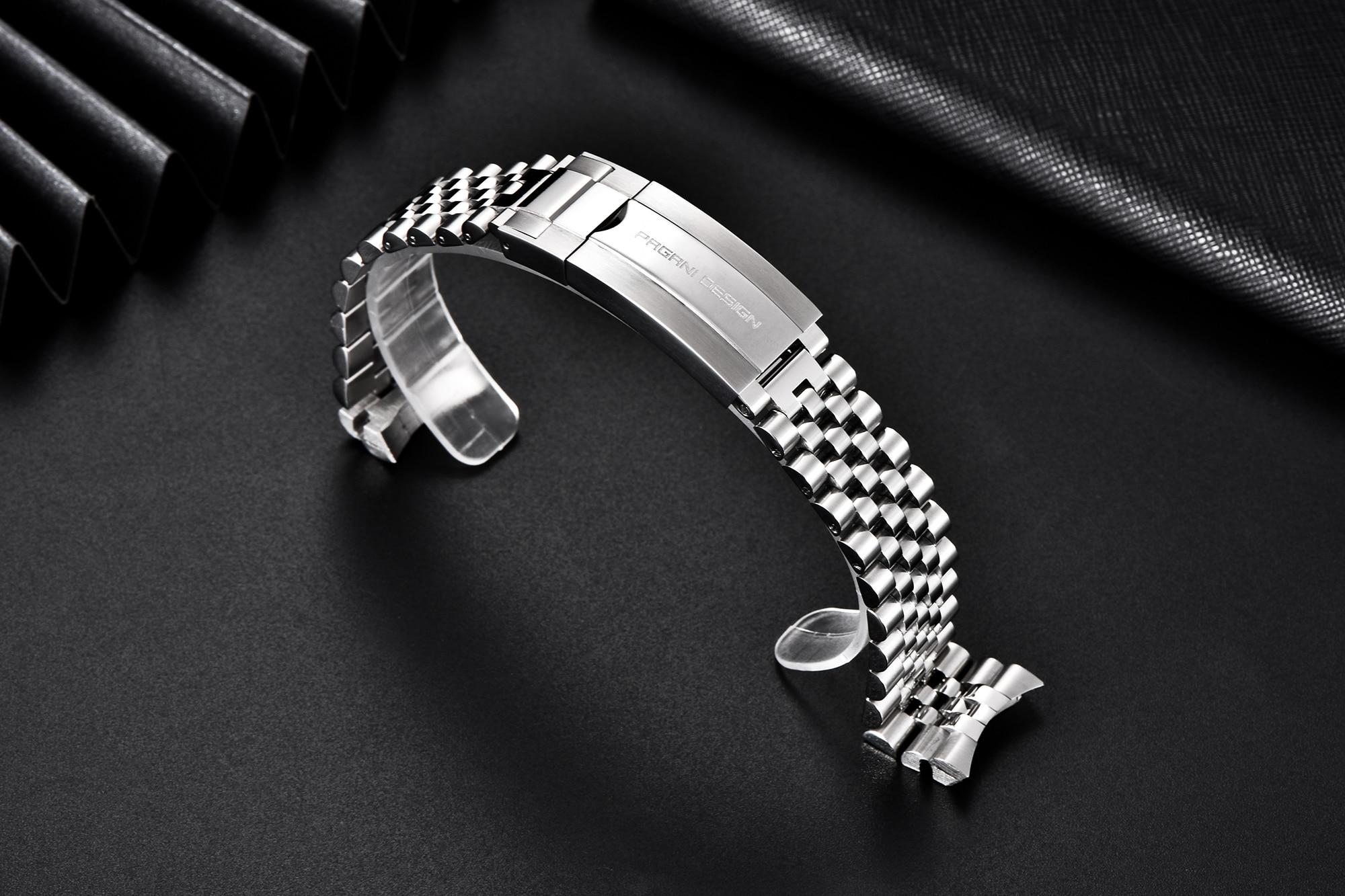 PAGANI DESIGN Bracelet jubilé Original en argent PD-1662, acier inoxydable, largeur 20mm, longueur 220 mm