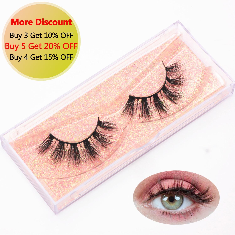 KEKEBAICHA Mink Eyelashes Natural Long 3D Mink Lashes 100% Cruelty Free Lashes Handmade Reusable False Eyelashes Makeup E18 Lash