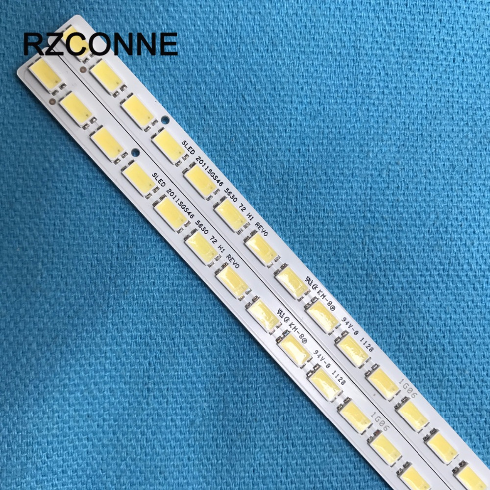 2pcs LED Strip 72leds SLED 2011SGS46 5630 72 H1 REV0 LJ64-03035A For Samsung LTA460HJ15 LTA460HJ14 LTA460HQ12
