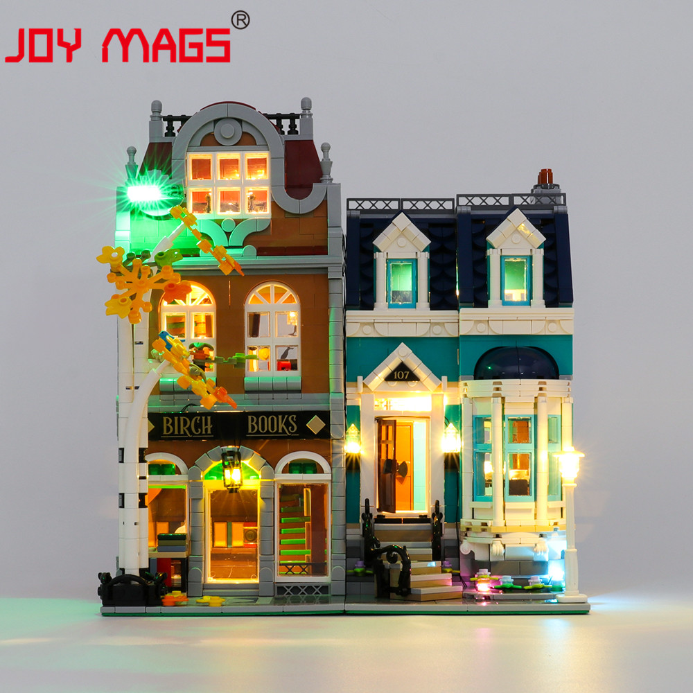 JOY MAGS Only Led Light Kit For Creator Bookshop Toys Lighting Set Compatible With <font><b>10270</b></font> (NOT Include Model) image