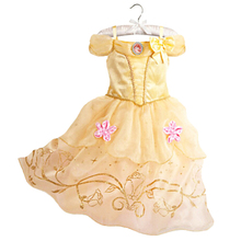 Belle Dress for Kids Princess Costume Party Wedding Dress Costume Kids Girls Princess Dress Belle Sleeping