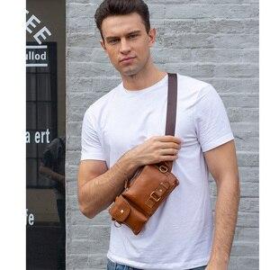 Image 2 - MVA riñonera informal de cuero genuino para hombre, bolso para la cintura, para dinero y teléfono, 9080