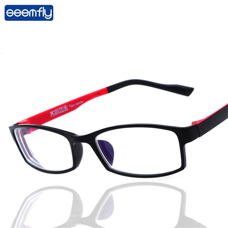 Seemfly Ultralight Anti-blue Light Small Frame Myopia Glasses Women&Men Classic Finished Nearsighted Goggles Diopter -1.0~4.0
