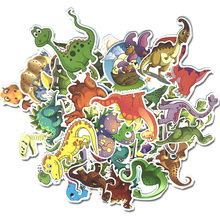 Dinosaur Sticker Set Kids Suitcase PVC Waterproof Travelling Stickers 50pcs/set