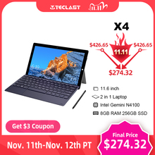 """Teclast X4 11.6 """"2 1タブレット1920 × 1080でwindows 10 os 8ギガバイトのram 256ギガバイトのssdタブレットpcインテルジェミニ湖N4100ノートpcデュアルカメラAndroid タブレット"""