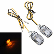 light 6 LED mini 2 black shell Blinker Indicator Lamp 2pcs Motorcycle flash turn signal amber