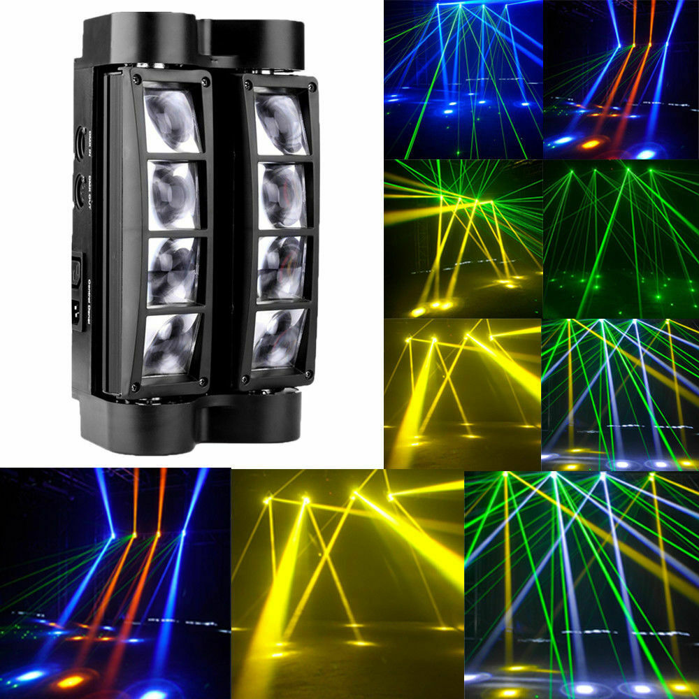 Moving Head Light, Mini Spider 80W With RGBW 4 Color LED Light Disco Lamp DMX512 Portable Stage Light By Bmart Christmas Lights