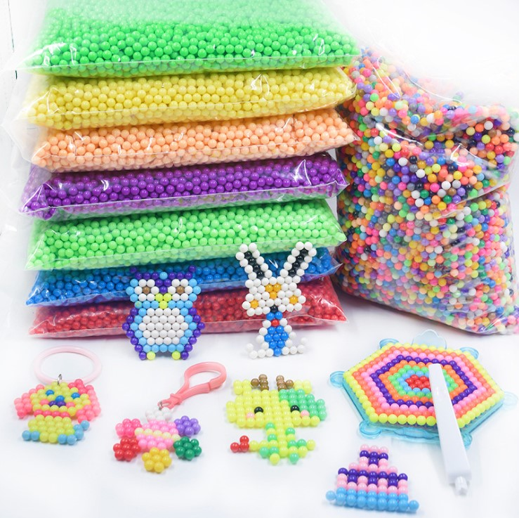 500Pcs/Set 30 Colors 5mm Water Beads Spray aqua Magic beads Educational 3D beads Puzzles Accessories for Children Toys(China)