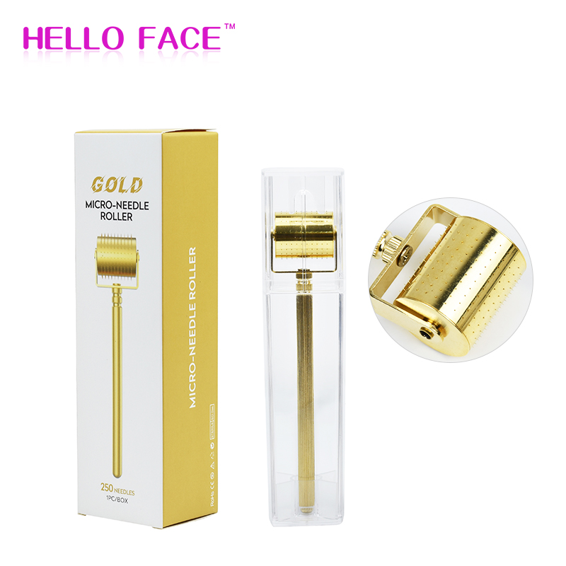Metal Derma Roller Titanium Microneedle Face Roller Hair Growth Dermaroller Plated By Real GOLD 100%