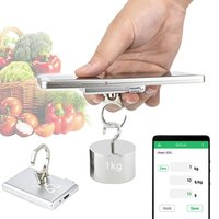 Mini Pocket Digital Electronic Weighing Scales Multi functional Bluetooth Kitchen Electronic Scale Hook Kitchen Scales     -
