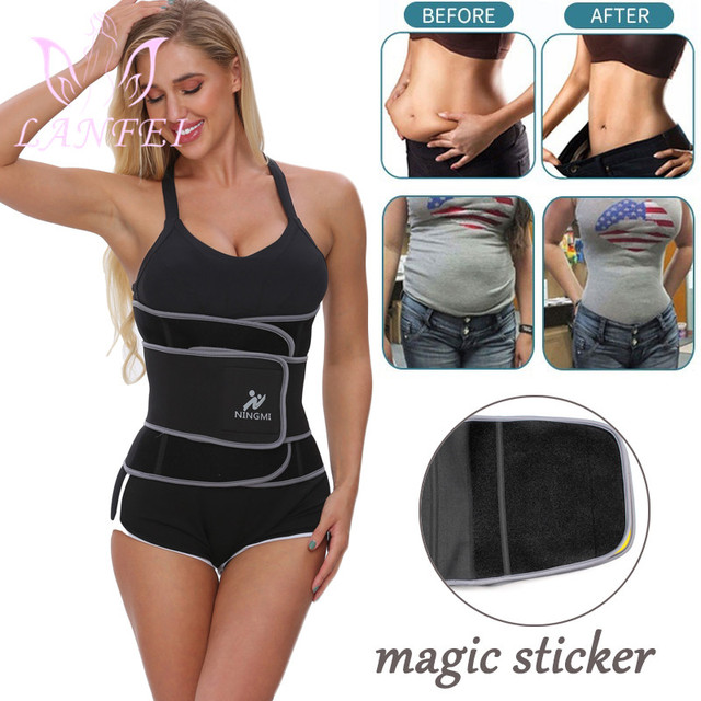 LANFEI Women Slimming Belt Waist Trainer Body Shaper Corset Neoprene Sweat Sauna Cinchers Underwear Faja Sport Weight Loss Strap 1